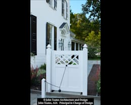 Gate with Cannonball Closure: classic Houses by John Toates Architecture and Design
