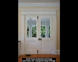 Porch Doors:  Windows by John Toates Architecture and Design