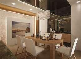 VERO CONCEPT MİMARLIK – İpek Gürel Villa: modern tarz Yemek Odası