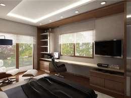 VERO CONCEPT MİMARLIK – İpek Gürel Villa: modern tarz Yatak Odası