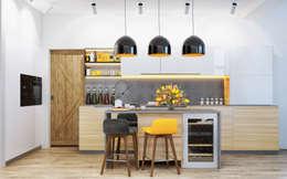 Cocinas de estilo escandinavo por PRIVALOV design