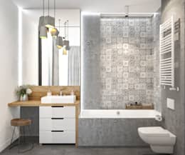 scandinavian Bathroom by PRIVALOV design