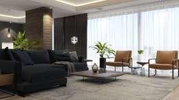 FARGO DESIGNS – Modern villa proje: modern tarz Oturma Odası
