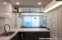 Projekty,  Kuchnia zaprojektowane przez 커먼그라운드