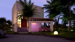 RESIDENCIA AQUA : Casas de estilo minimalista por sanmartiarquitectos