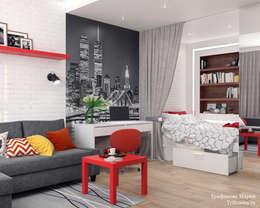 Однокомнатная квартира в Обнинске: Гостиная в . Автор – Мария Трифанова