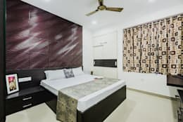 Interiors of Apartment at Parsvnath City Jodhpur: modern Bedroom by HGCG Architects