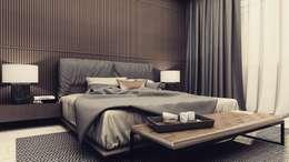 GRAY2: Спальни в . Автор – Polka architecture studio