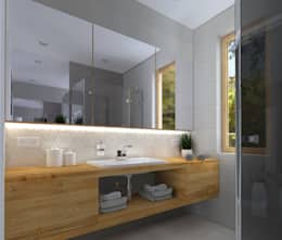 modern Bathroom by KADA WNĘTRZA S.C.