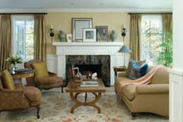 Renovation Remodel: classic Living room by Andrea Schumacher Interiors