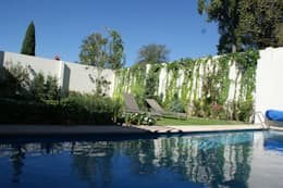 CASA VINTAGE ARQUIMIA ARQUITECTOS: Jardines de estilo clásico por Arquimia Arquitectos