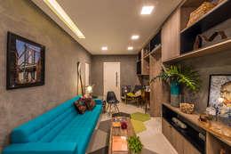 Salas / recibidores de estilo moderno por Viviane De Pinho Arquitetura