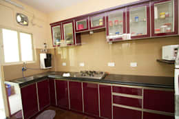 Residential Interior Project at Sarakki, Bangalore: modern Kitchen by Kriyartive Interior Design