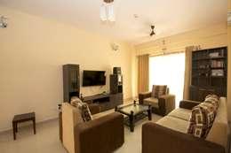 Residential Interior Project at Sarakki, Bangalore: modern Living room by Kriyartive Interior Design