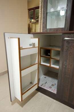 Hidden Bar unit : modern Dining room by Kriyartive Interior Design