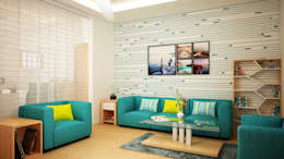 Living Room Wall Paper:   by Ghar360