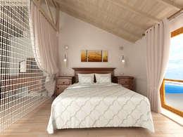 Kalya Interıor Desıgn – Antalya'da bir Konut Projesi: akdeniz tarzı tarz Yatak Odası