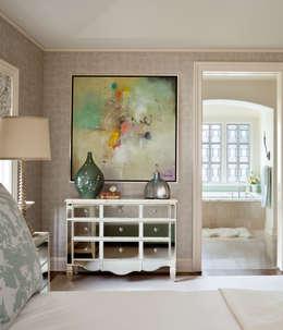 غرفة نوم تنفيذ Andrea Schumacher Interiors
