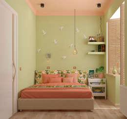 eclectische Slaapkamer door Студия дизайна Дарьи Одарюк