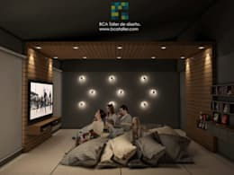 Salas de entretenimiento de estilo moderno por BCA taller de diseño