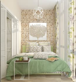 eclectic Bedroom by Студия дизайна Дарьи Одарюк