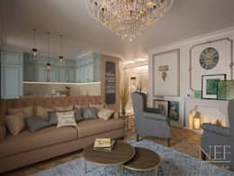 Квартира в американском стиле: Гостиная в . Автор – Юлия Паршихина