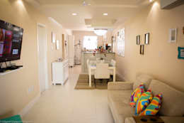 tropical Dining room by P2 Arquitetos Associados