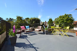 Two bedroom period apartmnt:  Terrace by THE FRESH INTERIOR COMPANY