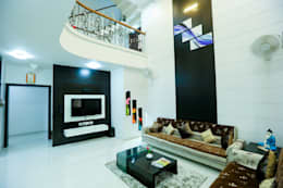 T.V. Panel : modern Living room by ZEAL Arch Designs