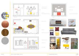 Propuesta Living/Comedor: Livings de estilo minimalista por Casa Meva Estudio