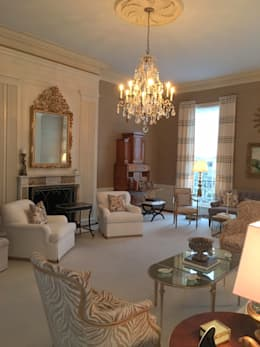 Kalorama Living Room Lighting  : classic Living room by Hinson Design Group