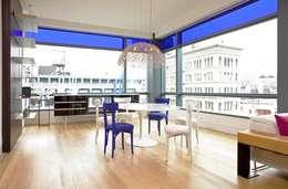 Soho Living Room Lighting : modern Living room by Hinson Design Group