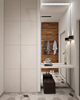 Дизайн интерьера двухкомнатной квартиры ЖК Фили Град : Коридор и прихожая в . Автор – GM-interior