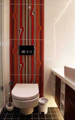 İndeko İç Mimari ve Tasarım – Bebek Çatı Katı: klasik tarz tarz Banyo