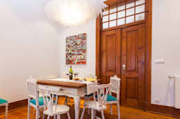 rustic Dining room by alma portuguesa