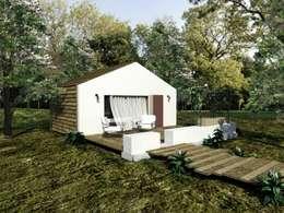 Casas de estilo minimalista por Grupo Norma
