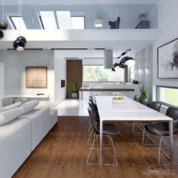 modern Dining room by HomeKONCEPT | Projekty Domów Nowoczesnych