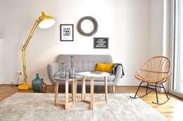 غرفة المعيشة تنفيذ Karin Armbrust - Home Staging