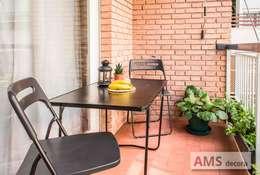 Balcones y terrazas de estilo  por AMS decora