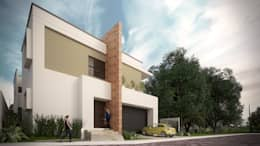 Fachada: Casas de estilo minimalista por Constructora e Inmobiliaria Catarsis