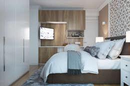 Dormitorios de estilo moderno por  ElenKova architecture