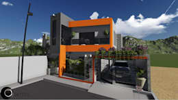 Casas de estilo moderno por Cup Studio