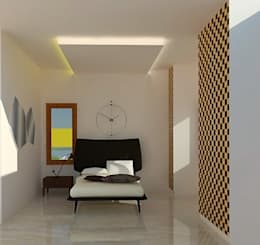 Guest Bedroom: minimalistic Bedroom by Urban Shaastra Design Studio