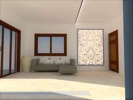 Lounge: minimalistic Living room by Urban Shaastra Design Studio