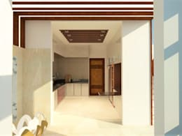 Kitchen: minimalistic Kitchen by Urban Shaastra