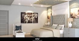 BEDROOM DESIGN: modern Bedroom by KARU AN ARTIST