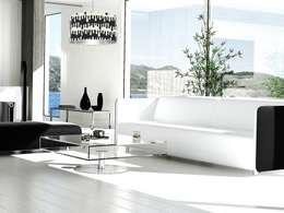 Lampa wisząca Black and white.: styl , w kategorii Salon zaprojektowany przez Ekotechnik24.pl - lampy na indywidualne zamówienie