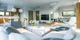 HomeKONCEPT | Projekty Domów Nowoczesnych: modern tarz Oturma Odası