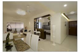 Living /Dining: modern Dining room by Navmiti Designs