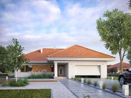Casas de estilo moderno por Biuro Projektów MTM Styl - domywstylu.pl